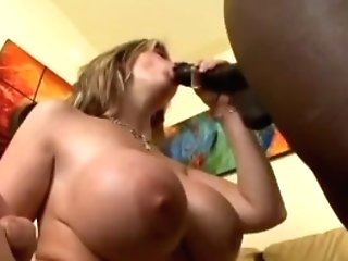 Big-titted Lady Gets Drilled With A Big Black Cock