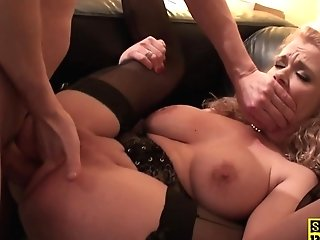 Analfucked Brit Skank Finger-tickled And Facialized