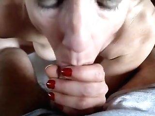Matures Woman Guzzling A Rock Hard Dick In Sofa