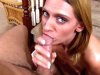 Matures Blonde Mummy With Smallish Tits Gargles And Strokes A Hard Man-meat