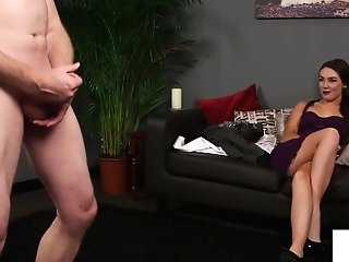 Cfnm Peeker Beauty Likes Sub Jerking Off