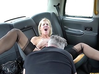 Horny Molly Cougar Adores When The Driver Fucks Her Badly In The Cab