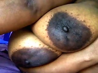 Monster Black Tits With Giant Areola On Laid Out Bbw