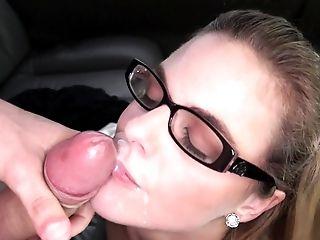 Hot School Woman Having Joy In A Pleasure Van