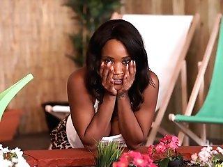 Jaw Pulling Down Black Mummy Kiki Minaj Shows Off Her Big Black Mammories