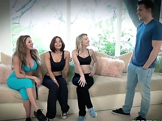 Cougar Farrah Dahl And Her Sport Gfs Fuck One Uber-sexy Sport Instructor