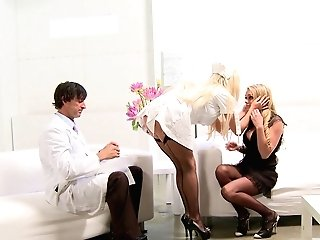 Paige Ashley Gulps Jizz While Sharing A Bone With Her Patient