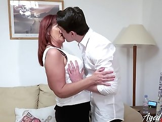 Agedlove Red-haired Matures And Horny Man Gonzo