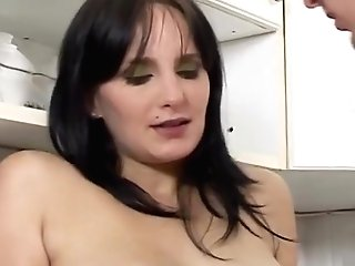 Preggo Mom Alexandra Tempt To Fuck In Kitchen By Step Sonny
