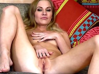 Tall Long-legged Cougar Tatiana Is Playing With Her Captivating Bald Poon