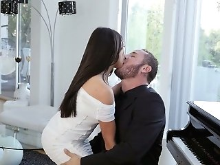 Captivating Black-haired Christiana Cinn Is Making Love With Danny Mountain