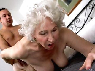 Senile Granny With Big Fun Bags Norma B Gets Intimate With Youthfull Man