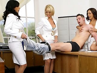 Three Mummies Holding A Casting For Masculine Model