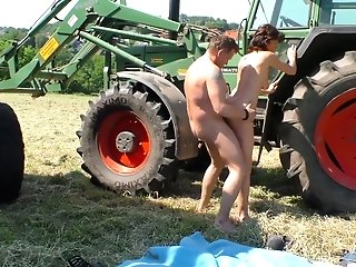 Tractor Driver Fucks Fuckfest-greedy Milkmaid Frosya Right In The Filed