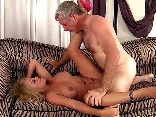 Older Blonde Crystal Taylor Rails Manstick