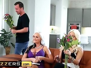 Brazzers - Big Tit Blonde Cougar Alena Croft Gets Fucked By Junior Man