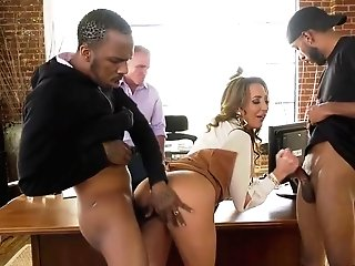 Richelle Ryan Is A Buxomy Mummy Who Likes To Get Fucked At Work, By Many Guys