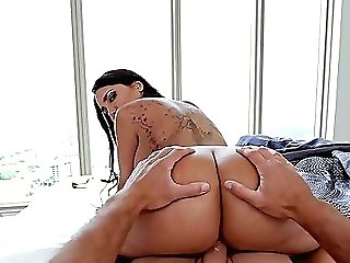 Big-chested Mummy Lela Starlet Gives A Bj And Gets Fucked On The Sofa