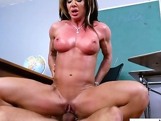 Bearded Student Fucks Whorish Slit Of Chesty Professor Nina Dolci