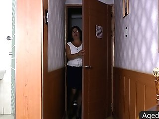 Matures Woman In Stockings Is Glutton For Hard And Meaty Penis Of Her Youthful Neighbor