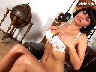 Veronika's Natural Tits Come In Handy