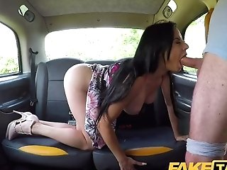 Faux Cab Taut Assfuck Fuck For Sexy Spaniard After Back Seat Sexy Oral Pleasure