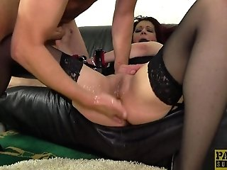 Obedient Matures Ginger-haired Leanne Morehead Fed Jizz From Her Face