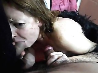 Piss In Promiscuous Matures Wifey's Mouth