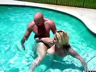 Matures Woman Over 50 Ryan Conner Gets Intimate With J Mac In The Pool