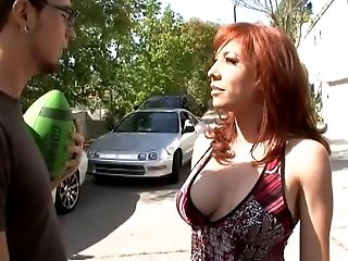 Ginger-haired Step-mom Gets Fucked