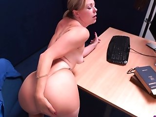 Sultry Bookkeeper Lucy Lauren Gives A Point Of View Footjob And Blowage
