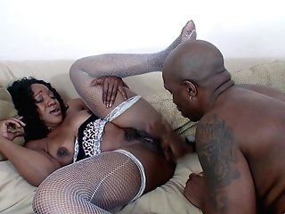 Matures Dark-hued Cougar Kitty B. Cunny Pounded By A Big Black Dick