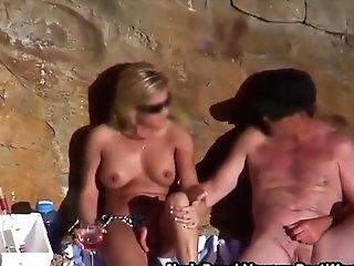 Horny Duo Love Fuck Naked On The Beach