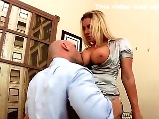 Gorgeous Yellow-haired Mummy Devon Lee Is Getting Fucked Deep In Her Asshole