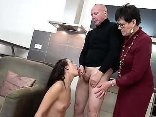Clothed Matures Helps Her Niece With A Big Lump Of Dick