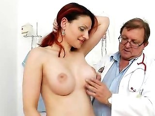 Big-boobed Matured Getting A Gynecology