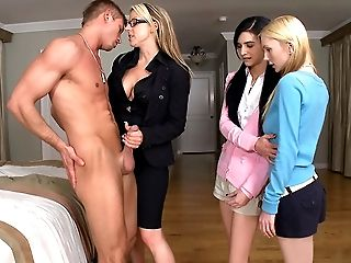Practice Woman Displaying Teenager How To Treat A Stiffy