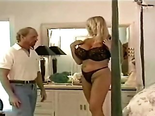 English Retro Blonde Takes Off Her Underwear For A Fortunate Paramour