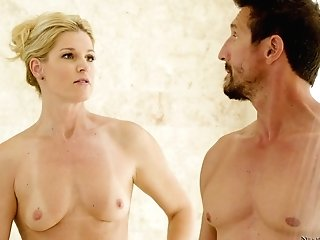 Oiled Stunner India Summer Gets Her Snatch Massaged By A Fat Shaft