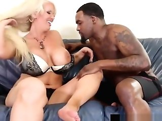 Big Black Man Sausage Rome Major Plows Blonde Cougar Alura Jenson!