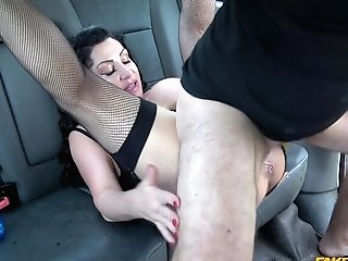 Massive Tits Nicole Dupapillon Plays With A Pecker Before Fuck In The Car