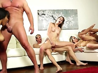 Three Bitches Are Exchanging Their Fucking Partners For The Ultimate Orgy