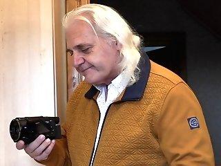 Farah Masturbates In Front Of An Old Man
