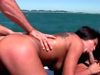 Top Hard-core Threesome In Extreme Modes With A Fine Black-haired