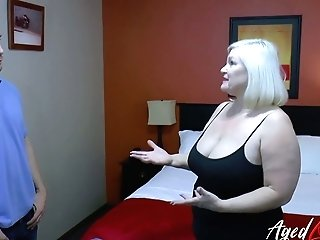 Old Bbw Lacey Starr Has An Affair With One Youthful Bald Headed Dude