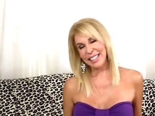 Matures Blonde Erica Lauren Shows Off Her Poon And Fucks