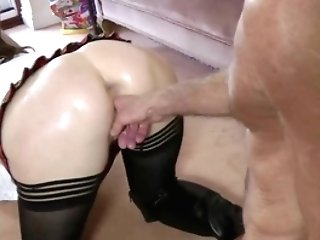 Stockings Matures Takes Penis From Behind In High Def