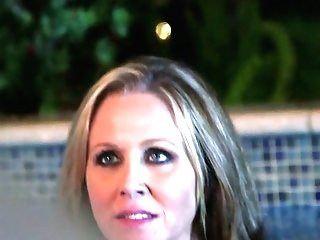 Juggy Mummy With Sunburn Lines Julia Ann Attempts To Please A Few Dudes In The Jacuzzi