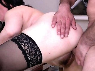 Horny Housewife Ilsa Gets Big Spunk-pump In Hairy Cunt