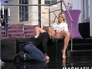Matures German Woman Julia Pink Is Having Quickie With Bald Headed Dude
